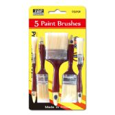 48 Units of 5 Piece painting brush - Paint and Supplies