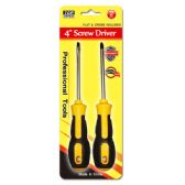 "48 Units of 8"" 2 Pack screw driver - Screwdrivers and Sets"