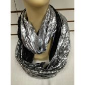 36 Units of INFINITY SCARF IN SILVER AND BLACK