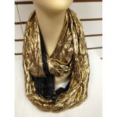 36 Units of INFINITY SCARF IN GOLD AND BLACK