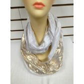 36 Units of INFINITY SCARF IN GOLD AND WHITE