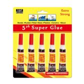 96 Units of Five Piece super glue - Glue Office and School