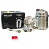 12 Units of 1.2L stainless food pot - Stainless Steel Cookware Sets