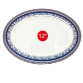 "96 Units of 12""melamine oval plate - Kitchenware"