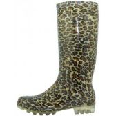 18 Units of Ladies Plaid and Leopard Rain Boots - Assorted 2 styles