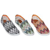 36 Units of Ladies Printed Slip On Boat Shoes - Women's Flats