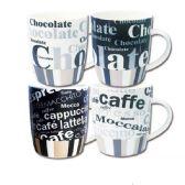 96 Units of Ceramic mug 12oz Assorted Designs - Coffee Mugs
