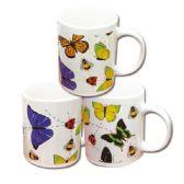 48 Units of Ceramic mug 12oz Butterfly Design - Coffee Mugs