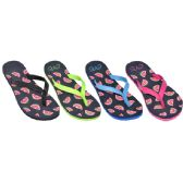 36 Units of Ladies Watermelon Flip Flops