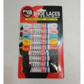 """72 Units of 9 Pack 39"""" Round Shoe Laces [Assortment] - Footwear Accessories"""