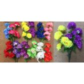 48 Units of 7 Head Chrysanthemum Plastic Flower - Artificial Flowers
