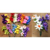 48 Units of 6 Head Big Water Lily Plastic Flower - Artificial Flowers