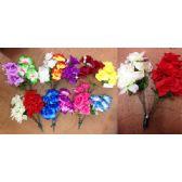 48 Units of 8 Head Big Rose Plastic Flower - Artificial Flowers