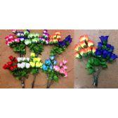 48 Units of 10 Head Rose Bud Plastic Flower - Artificial Flowers
