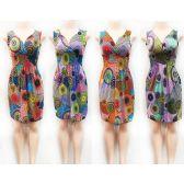 12 Units of Wholesale V Neck Short Summer Dresses - Womens Sundresses & Fashion