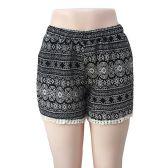 12 Units of Wholesale Black & White Tribal Print with Crochet Bottom