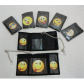 72 Units of Trifold Wallet with Chain [Emoji]