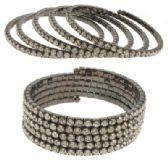 12 Units of Rhinestone Coil Bracelets - Bracelets