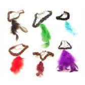 36 Units of Bracelet assorted color feathers - Bracelets