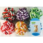 24 Units of Wholesale Dog Pet Rope Knot Ball - Pet Toys