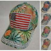36 Units of Lace Floral Hat with Bling [Flag]
