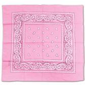 24 Units of Wholesale Bandana Cotton Pink Paisley Fabric