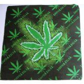 24 Units of Wholesale Bandana Cotton Large Marijuana Leaf 100% Legal