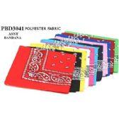 72 Units of assorted colors Paisley Pattern Bandana