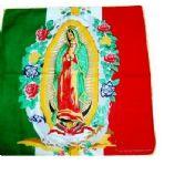 24 Units of Virgin Mary Printed Cotton Bandanas - Bandanas
