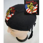 24 Units of Wholesale Skull Caps Motorcycle Hats Born In The USA Embroidery