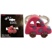 36 Units of Silvertone ring with glow in the dark fimo car - Rings