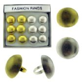 36 Units of Silver and Gold Round Rings - Rings