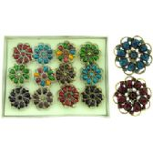 36 Units of Gold tone and silver tone adjustable rings - Rings