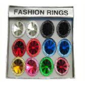 36 Units of Adjustable oval shaped acrylic ring set