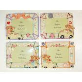 """72 Units of 3.5""""x5"""" Bears on Wheels Picture Frame"""