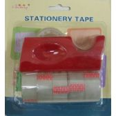 144 Units of 6pc Tape and Dispenser Set - Tape