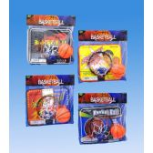 48 Units of Basketball Set In Pvc Bag Header Card - TOY SETS