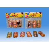 144 Units of 6 Pieces car party favor in poly bag header