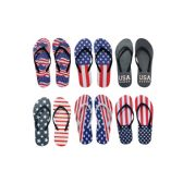 96 Units of Men's American Flag Flip Flops - Men's Flip Flops