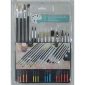 144 Units of 15pc. Art Brush Set - Paint and Supplies