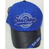 144 Units of San Diego Cap-Leatherelet - Hats With Sayings