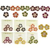 72 Units of Silver-tone Cast Flowers with Assorted Color Epoxy Ring and Earing Set