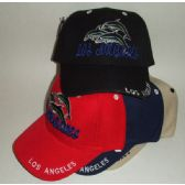 72 Units of Los Angeles Dolphin Cap - Hats With Sayings