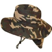 30 Units of Camouflage Hat w/ Back Flap