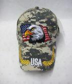 48 Units of Eagle USA Cap In Camo