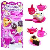 24 Units of 13 PIECE HAPPY TIME TOY TEA SETS.