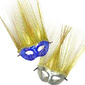 72 Units of GLITTER FUNKY STAND UP FRINGE MASKS - Masks