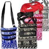 48 Units of LARGE ELEPHANT PRINT MESSENGER BAGS - Shoulder Bags & Messenger Bags