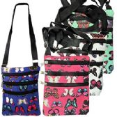 48 Units of LARGE BUTTERFLY PRINT MESSENGER BAGS. - Shoulder Bags & Messenger Bags