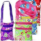 120 Units of FLOWERS & BUTTERFLIES MESSENGER BAGS - Shoulder Bags & Messenger Bags